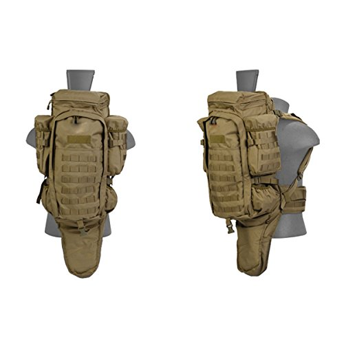 Alta Every Day Carry Tactical Military Padded Rifle Case Backpack - Tan