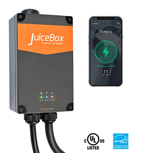 JuiceBox Pro 40 Smart Electric Vehicle (EV) Charging Station with WiFi - 40 amp Level 2 EVSE, 24-foot cable, NEMA 14-50 plug, UL and Energy Star Certified, Indoor / Outdoor Use (Best Ev Charging Station App)