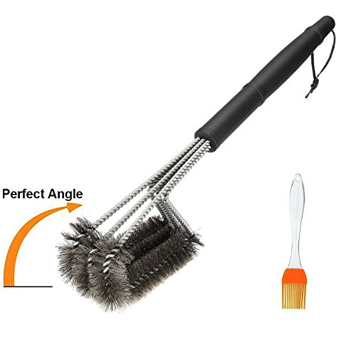 Best Review Of Alolli a Must Have 18 Stainless Steel BBQ Grill Brush 3-in-1, Barbecue Grill Brush B...