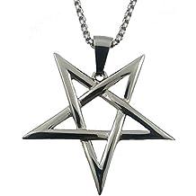 Inverted Pentagram Pentacle 316L Stainless Steel