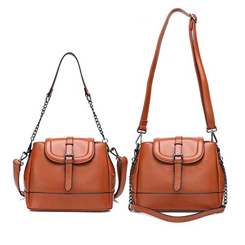 Borsa colore Tracolla Capacità Messenger 21cm Da Wild 18 Brown Simple Square Red Shopping Bag Dimensioni Retro A 27 Fashion Small Grande Donna Party rpxrqw