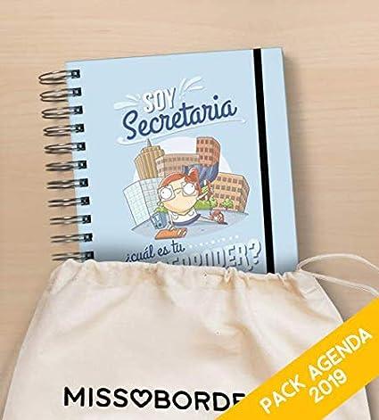 Missborderlike - Agenda Anual 2019 Dia vista + saco - Secretaria