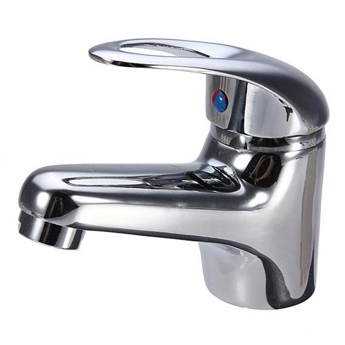 Plated Basin Mixer (Brass Basin Faucet Bathroom Sink Mixer Tap Chrome Plate Waterfall Cover Plated Hole Single Spout Handle)