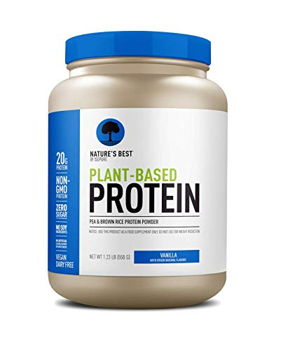 Nature's Best Plant Based Vegan Protein Powder by Isopure - Organic Keto Friendly, Low Carb, Gluten Free, 20g Protein, 0g Sugar, Vanilla 1lb (20 Servings)