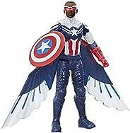 Boneco Marvel Studios Avengers Titan Hero Series, Figura de de 30 cm - Capitão América com Asas - F2075 - Hasb