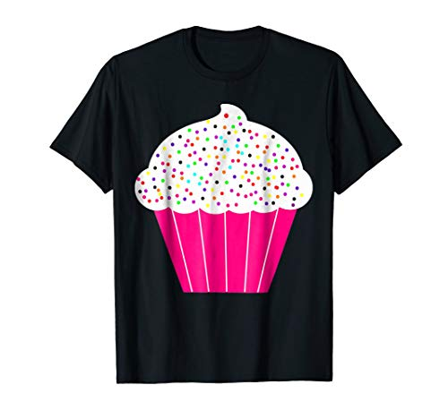 Cupcake Fun Food Costume T-Shirt White Frosting Sprinkles -