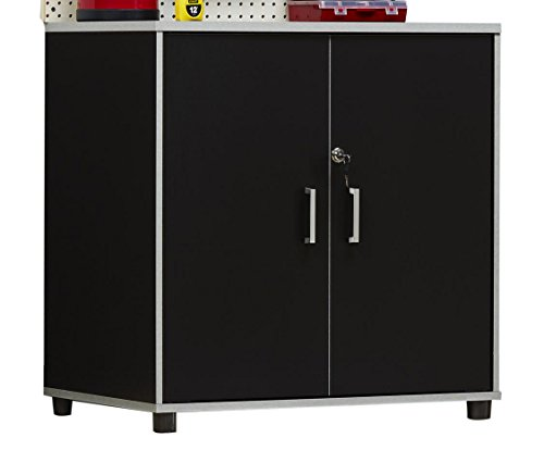 SystemBuild 7466056COM Apollo 2 Door Base Cabinet 2 Black