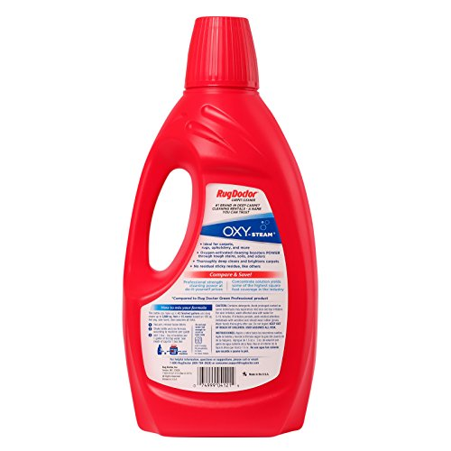 Rug Doctor Oxy-Steam Carpet Cleaning Solution, Removes
