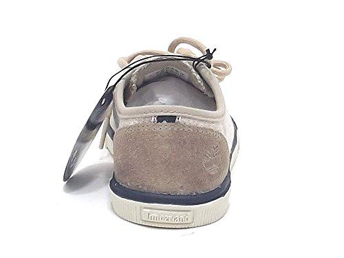 Timberland scarpe ragazzo, modello Glanstebury, sneakers in tessuto canvas e camoscio, colore beige