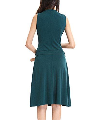 U8Vision - Vestido - trapecio - para mujer Verde