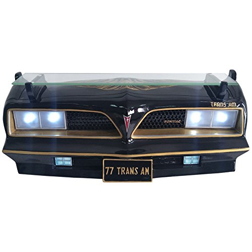 "Black 1977 Pontiac Trans Am Decorative Wall Shelf with Working LED Headlights for Automotive Car Enthusiast 19.5"" W x 7.5""H x 7"" D weight 7 lbs. Review"