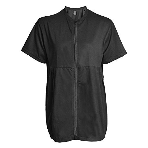 Inspired Comforts Mastectomy Recovery Shirt with Drain Pockets & Fasteners to Hold Drainage Tubes Black