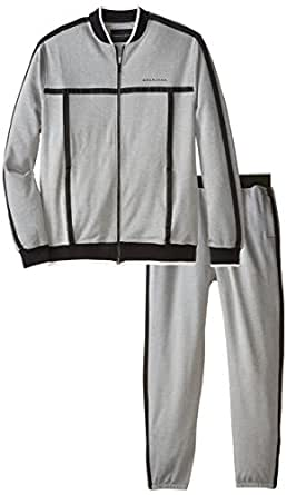 Sean John Men's Big-Tall Challenger Zip Jacket and Pant Set, Obsidian, 4X-Large