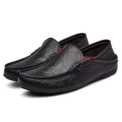Hombres Moda conducción de del Hombres Moda PU de la de Simple la del mocasín de los diseño Negro la de los Mocasines de de la Plantilla qS586xwI5