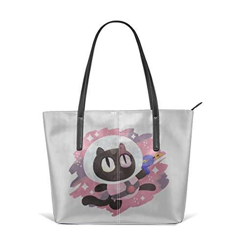 (HUAJAL Steven Universe Cookie Cat Satchel Purses and Handbags for Women Shoulder Tote Bags)