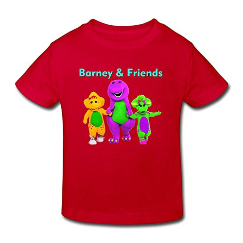 Toddler's 100% Cotton Barney & Friends Funny T-Shirt Red US Size 2 Toddler - Barney And Friends Clothes