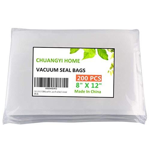 CHUANGYI 200 Quart Pre-Cut Food Vacuum Sealer Storage Bags 8