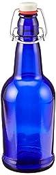 16 oz. Cobalt Blue Bottles EZ Cap Flip Top Home Brewing Growlers (2 Bottles)