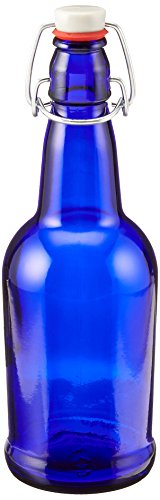 16 oz. Cobalt Blue Bottles EZ Cap Flip Top Home Brewing Growlers (2 ()