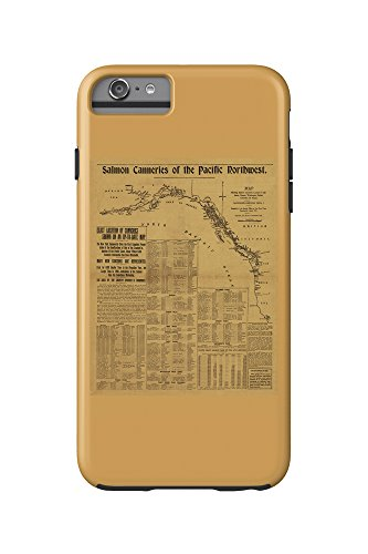 Salmon Canneries of the Pacific Northwest - (1901) - Panoramic Map (iPhone 6 Plus Cell Phone Case Cell Phone Case, Tough)