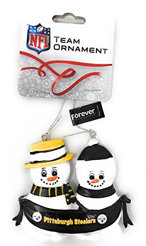 NFL Football DIY Personalized Christmas Ornament Pittsburgh Steelers 2-3-4-5 Head Family Team Ornament Do it yourself