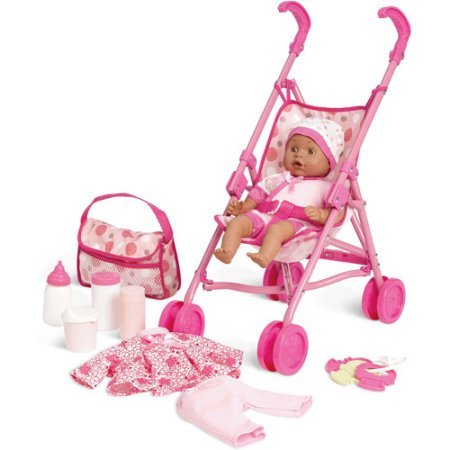 African American Baby Doll With Stroller - 6