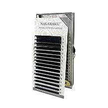 NAGARAKU Eyelash Extensions Individual Faux Mink Eyelash C Curl Thickness 0.15mm Length 7-15mm Mixed In One Tray(CX0.15mm)