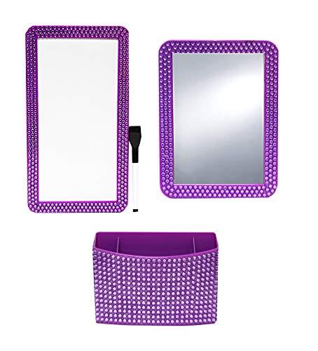 Glam Rock Decor (Inkology Glam Rocks 4pc Magnet Locker Set Purple, 1)
