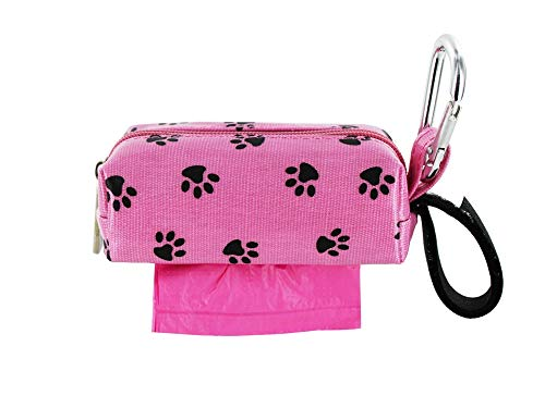 Image of Doggie Walk Bags Square Duffel Paw Print Bag, Pink