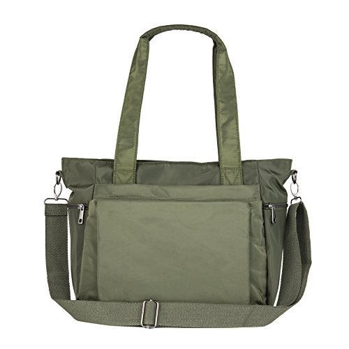 (ZOOEASS Women Fashion Large Tote Shoulder Handbag Waterproof Multi-function Nylon Travel Messenger Bags)