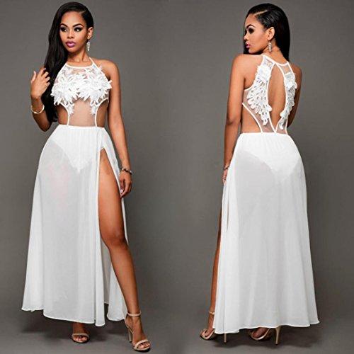 Röcke VENMO Frauen Sommerkleid Maxi Lange Abendkleid Strandkleid Sundress White Tf3mr