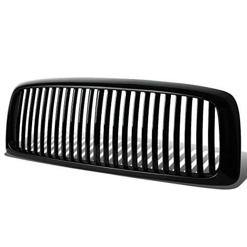 For Dodge Ram 1500/2500/3500 ABS Plastic Vertical Style Front Bumper Grille (Black) - 3rd Gen DR DH