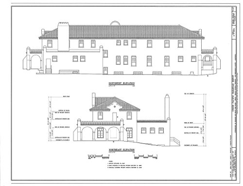 (historic pictoric Structural Drawing HABS Cal,36-Kelso,1- (Sheet 8 of 10) - Union Pacific Railroad Depot, Intersection of Kelbaker & Kelso CIMA Roads, Kelso, San Bernardino County, CA 60in x 44in)