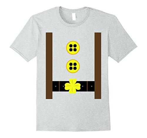 Mens Traditional European Lederhosen T-shirt Oktoberfest Tee Medium Heather Grey