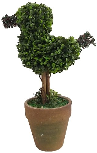 Bird Topiary (Craft Outlet Bird Topiary in Pot Figurine, 5 by 2.5 by 8.25-Inch)