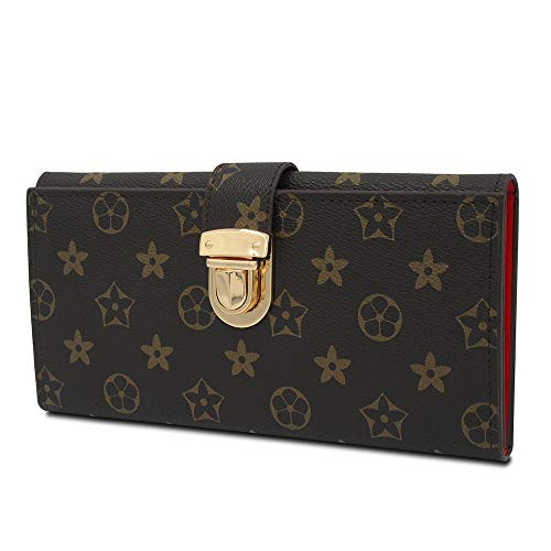 - Sinianer Fashion Long Wallets for Women, Designer Wallet Blocking Clutch Zipper (New Brown)