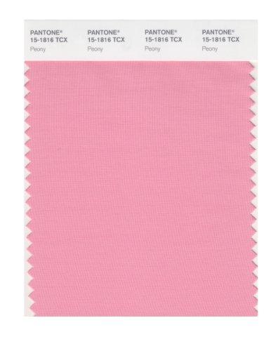 (PANTONE Smart 15-1816X Color Swatch Card, Peony)
