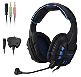 2017 NEW LETTON G10 Xbox 360,PC Gaming Headset Multi Function Pro Game Headphones with Mic for PC , Xbox 360, iPhone, Smart Phone, Laptop, iPad, iPod, Mobilephones-(black)