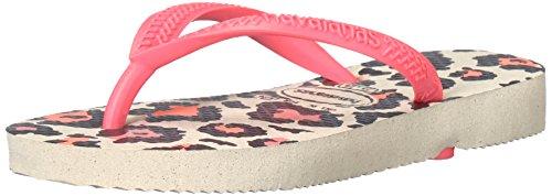 m Animals Flip Flop Sandals, Animal Print,Beige/Coral New,27-28 BR(11-12 M US Little Kid) (Havaianas Print Flip Flops)
