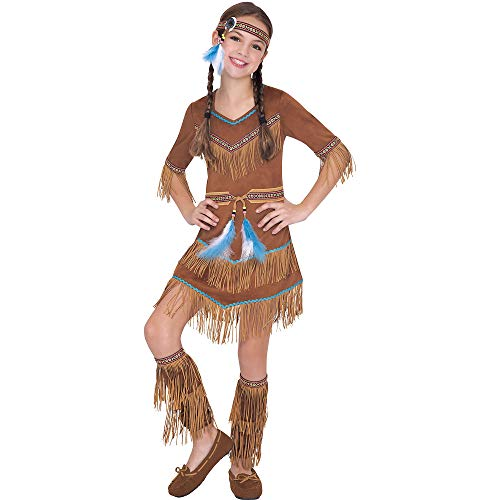 AMSCAN Dream Catcher Cutie Native American Halloween Costume for Girls, Large, with Included -