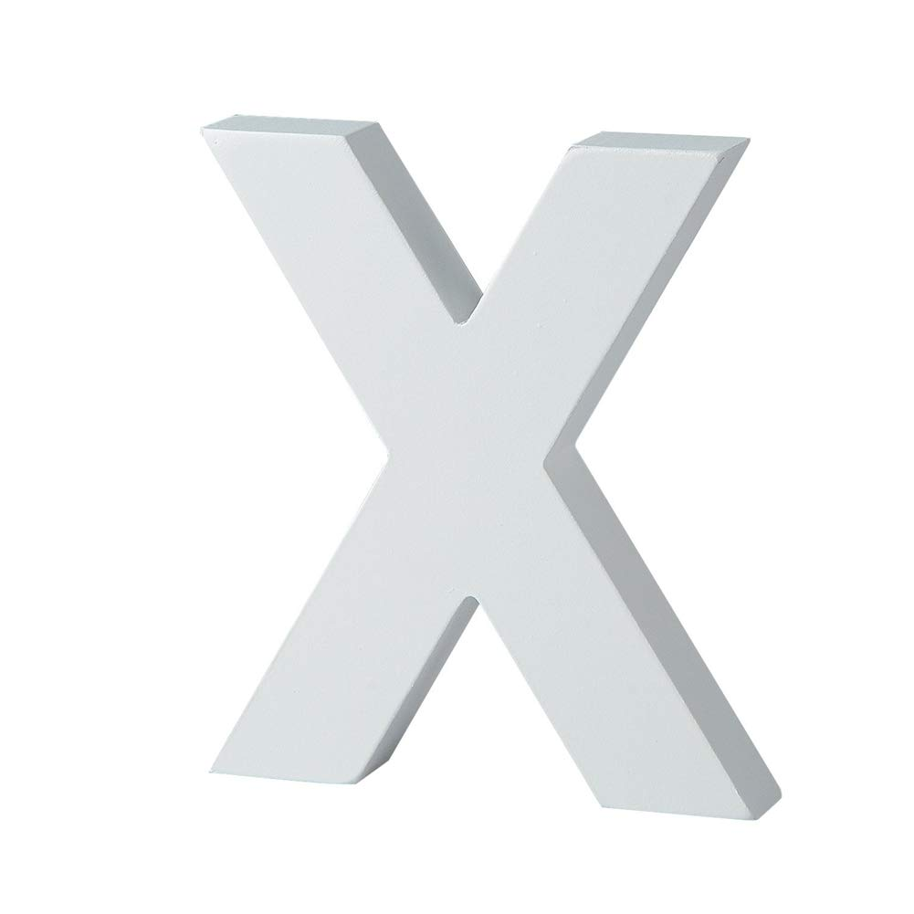 Xeples Letras de Madera Artesan/ías en Blanco Letras de Madera Decoraci/ón de Bricolaje Arte de artesan/ía de 15 cm de Alto