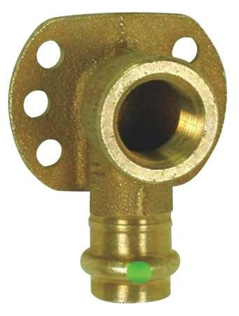 Viega 79190 ProPress Zero Lead Bronze 90-Degree Elbow Drop with Wall Plate with Female 1/2-Inch by 1/2-Inch P x Female NPT by Viega