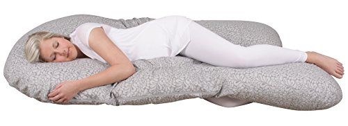 Leachco Back 'N Belly Bunchie Pregnancy/Maternity Body Pillow, Splash Gray