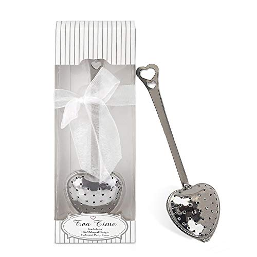 dngcity Wedding Favor Tea Time Heart Shaped Tea Infuser Spoon Set of 20