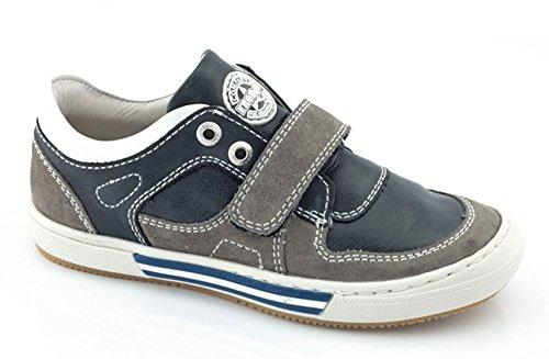 Froddo Schuhe Sneaker Halbschuhe softes Leder blau grau Klettverschluss
