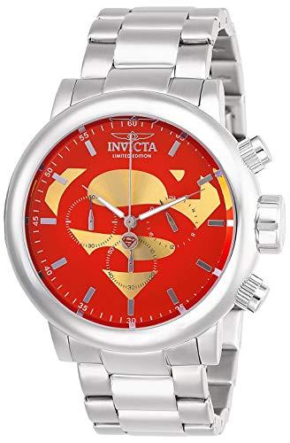Invicta Men s DC Comics Quartz Stainless-Steel Strap, Silver, 24 Casual Watch Model 27605