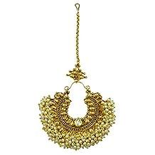 Matra Bollywood Indian Women Acrylic Stone Maang Tikka Traditional Wedding Jewelry