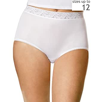 Hanes Women's Nylon Briefs,Assorted,7 US