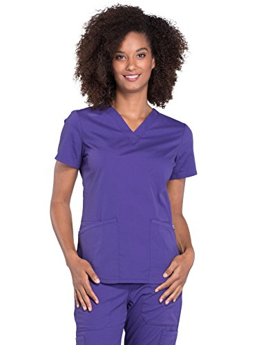 Cherokee WW Professionals WW665 V-Neck Top Grape XL