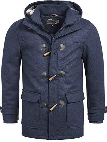 Indicode Homme Ervin Duffle Coat en Laine Mélangée De Grande Qualité avec Col Montant Et Capuche   Court Doublé Manteau…